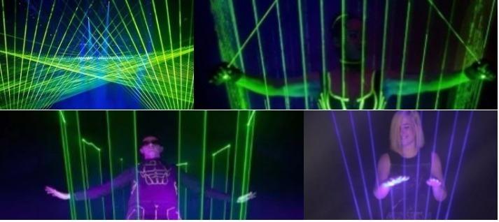 espectaculo laser