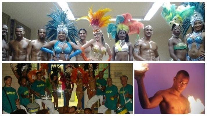 espectaculo de capoeira y samba copacabana
