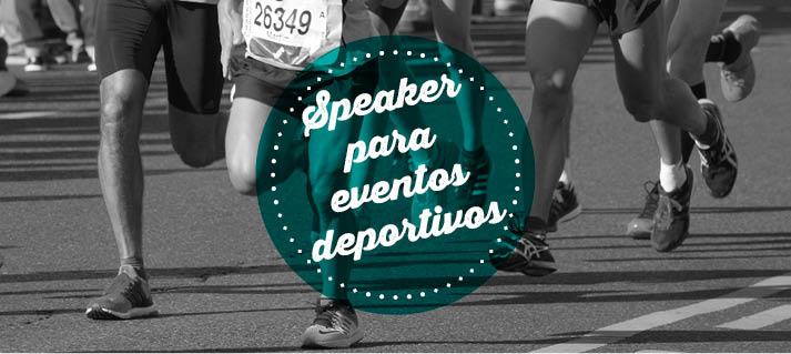 speaker para eventos deportivos